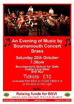Poster for Brass Band concert - October 2014