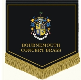 BCB music stand banner with Bournemouth Coat of Arms